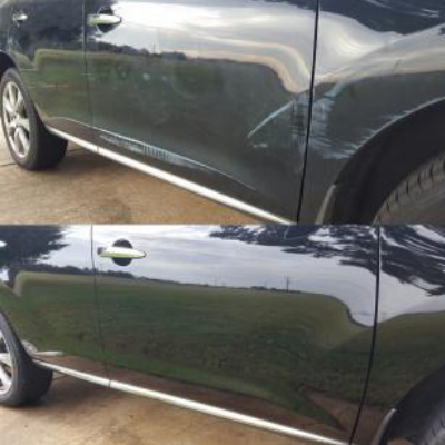 Paint Scuff Repair - Before & After